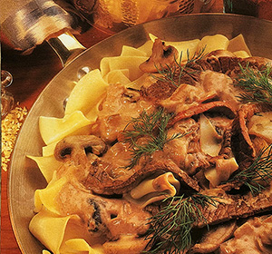 Indulge yourself in velvety quick beef stroganoff