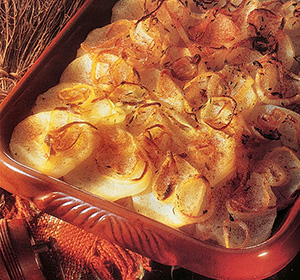 savoury bakes potatos gratin