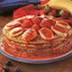 Strawberry pancake stack